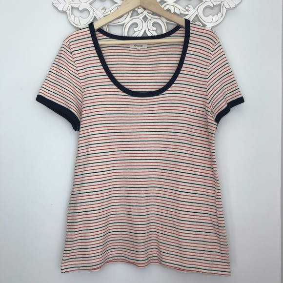 Madewell Tops - MADEWELL Striped Women's Soft Stretchy Tshirt XL.